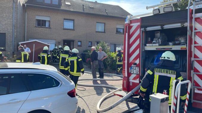 FF Goch: Küchenbrand in Reihenhaus