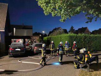 FF Nordkirchen: Feuerwehr löscht Brand in Garage