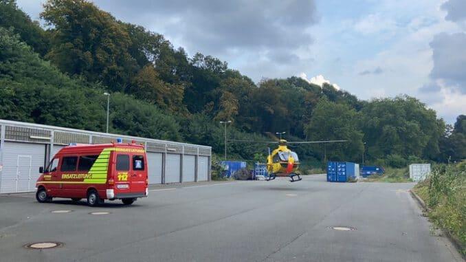 FW-EN: Feuerwehr sichert Landung von einem Rettungshubscharuber - Unfall auf Seeweg