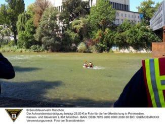 FW-M: Hilflos in der Isar (Isarvorstadt)