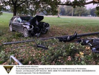 FW-M: Kurioser Unfall im Olympiapark (Milbertshofen-Am Hart)