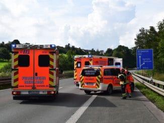 FW-MK: Verkehrsunfall auf der BAB 46