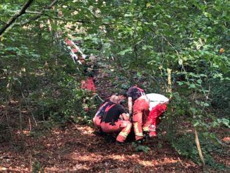 FW-Velbert: Mountainbiker in Langenberg schwer verletzt