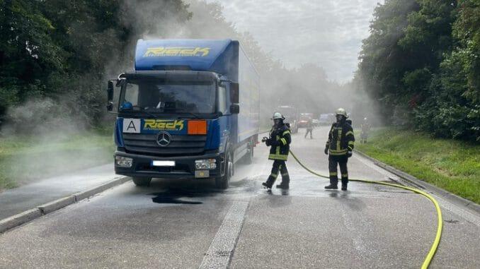 FW Wenden: Motorschaden an Gefahrgut LKW sorgt für Großeinsatz