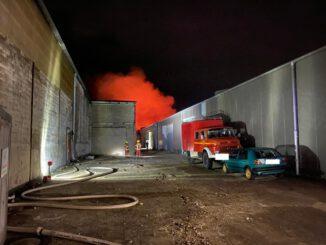 Feuerwehr Weeze: Industriehallenbrand