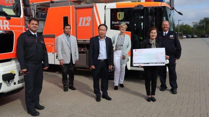 LFV-Sachsen: Spendenübergabe in Leipzig