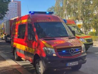 FW Dresden: Brand in einer Toilette der 101. Oberschule