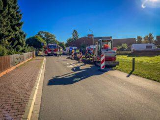 FW Flotwedel: Bagger trifft Gasleitung bei Erdbauarbeiten in Bröckel