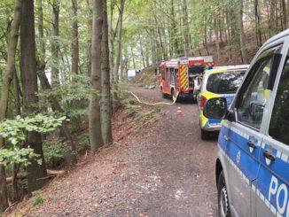 FW Königswinter: Motorflugzeug verunglückt im Siebengebirge