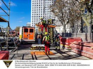 FW-M: Bauarbeiter schwer verletzt (Milbertshofen)