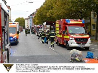 FW-M: Stundenlanger Brandeinsatz (Schwabing-West)