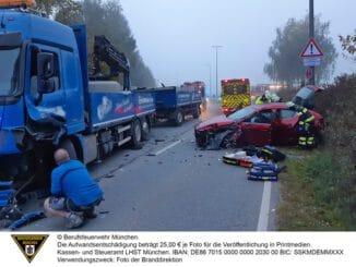 FW-M: eCAll meldet Verkehrsunfall (Neulangwied)