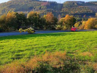 FW-PL: Schwerer Motorradunfall auf L619 - RTH im Einsatz
