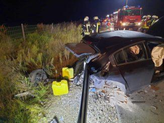 FW Sonsbeck: Schwerer Verkehrsunfall auf der A57